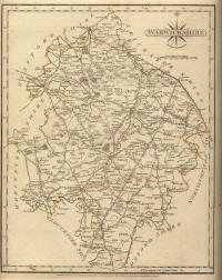 Carey map of Warwickshire 1787